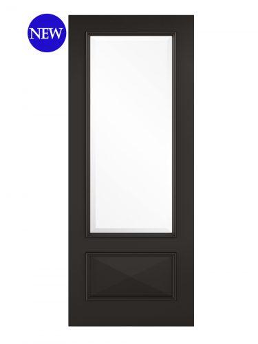 LPD Black Knightsbridge 1L Internal Glazed Door