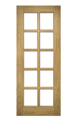 Deanta Bristol Unfinished Oak Bevelled Internal Glazed DoorDeanta Bristol Unfinished Oak Bevelled Internal Glazed Door