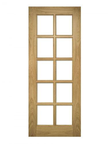 Deanta Bristol Unfinished Oak Bevelled Internal Glazed Door
