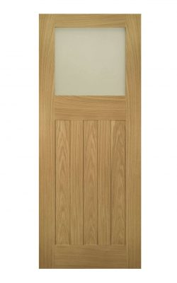 Deanta Cambridge Unfinished Oak Frosted Internal Glazed DoorDeanta Cambridge Unfinished Oak Frosted Internal Glazed Door