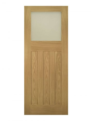 Deanta Cambridge Unfinished Oak Frosted Internal Glazed Door