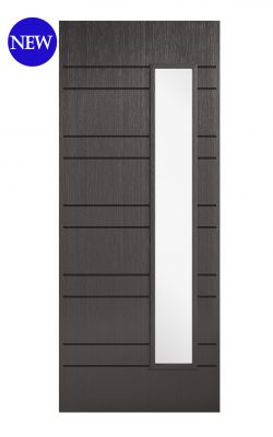 LPD Charcoal Grey Embossed Newmarket 1L External Glazed DoorLPD Charcoal Grey Embossed Newmarket 1L External Glazed Door