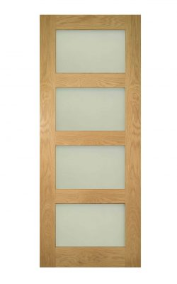 Deanta Coventry Prefinished Oak Frosted Internal Glazed DoorDeanta Coventry Prefinished Oak Frosted Internal Glazed Door