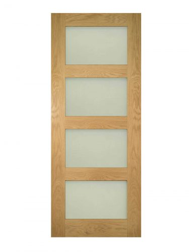 Deanta Coventry Prefinished Oak Frosted Internal Glazed Door