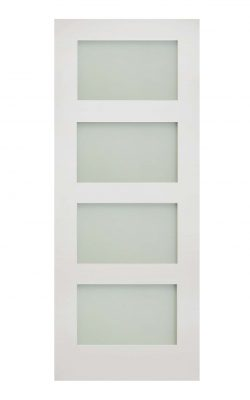Deanta Coventry White Primed Frosted Internal Glazed DoorDeanta Coventry White Primed Frosted Internal Glazed Door