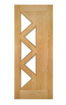 Deanta Ely Prefinished Oak Internal Glazed Door (5L)Deanta Ely Prefinished Oak Internal Glazed Door (5L)