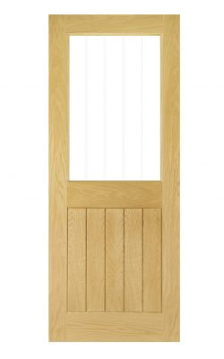 Deanta Ely Unfinished Oak Internal Glazed Door (1L Half)Deanta Ely Unfinished Oak Internal Glazed Door (1L Half)