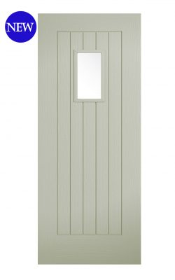 LPD French Sage Embossed Suffolk 1L External Glazed DoorLPD French Sage Embossed Suffolk 1L External Glazed Door