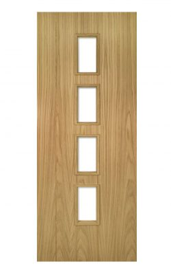 Deanta Galway Unfinished Oak Internal Glazed DoorDeanta Galway Unfinished Oak Internal Glazed Door