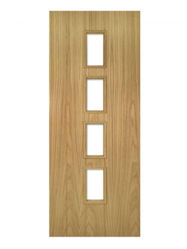 Deanta Galway Unfinished Oak Glazed FD30 Fire Door