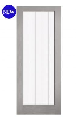 LPD Grey Moulded Textured Vertical 1L Internal Glazed DoorLPD Grey Moulded Textured Vertical 1L Internal Glazed Door