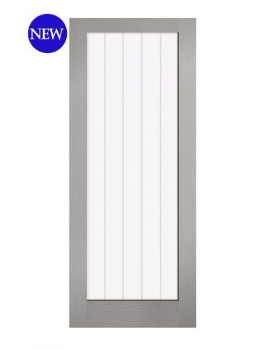 LPD Grey Moulded Textured Vertical 1L Internal Glazed Door