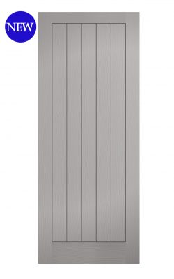 LPD Grey Moulded Textured Vertical 5P FD30 Fire DoorLPD Grey Moulded Textured Vertical 5P FD30 Fire Door