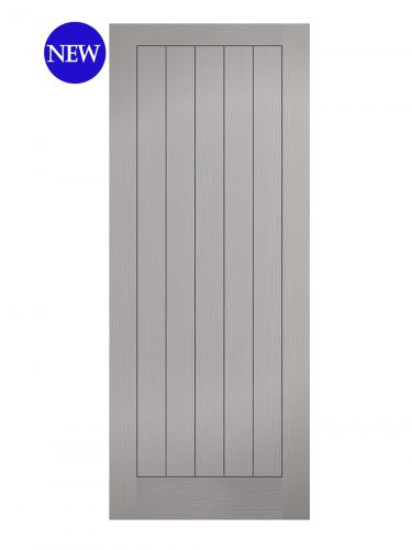 LPD Grey Moulded Textured Vertical 5P Internal Door