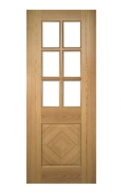 Deanta Kensington Prefinished Oak Bevelled Internal Glazed DoorDeanta Kensington Prefinished Oak Bevelled Internal Glazed Door