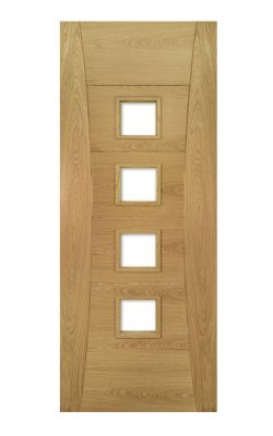 Deanta Pamplona Prefinished Oak Glazed FD30 Fire DoorDeanta Pamplona Prefinished Oak Glazed FD30 Fire Door