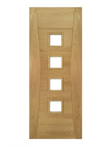 Deanta Pamplona Prefinished Oak Glazed FD30 Fire Door