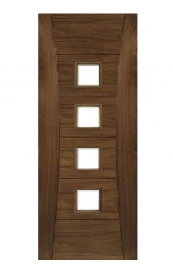 Deanta Pamplona Prefinished Walnut Glazed FD30 Fire DoorDeanta Pamplona Prefinished Walnut Glazed FD30 Fire Door
