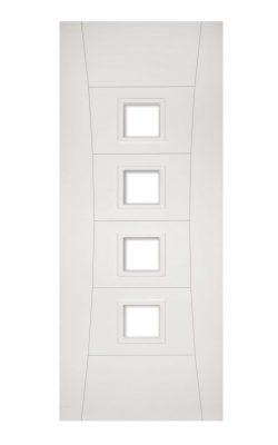 Deanta Pamplona White Primed Glazed FD30 Fire DoorDeanta Pamplona White Primed Glazed FD30 Fire Door