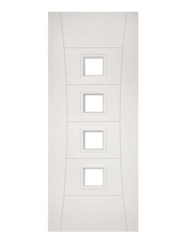 Deanta Pamplona White Primed Glazed FD30 Fire Door