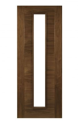 Deanta Seville Prefinished Walnut 1L Glazed FD30 Fire DoorDeanta Seville Prefinished Walnut 1L Glazed FD30 Fire Door
