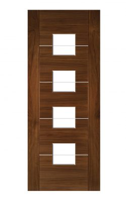 Deanta Valencia Prefinished Walnut Internal Glazed DoorDeanta Valencia Prefinished Walnut Internal Glazed Door