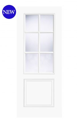 LPD White Moulded Smooth Bruges 6L Internal Glazed DoorLPD White Moulded Smooth Bruges 6L Internal Glazed Door