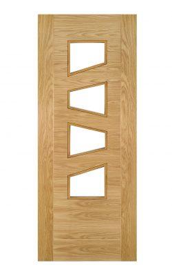 Deanta Seville Prefinished Oak Internal Glazed Door (4L Slanted)Deanta Seville Prefinished Oak Internal Glazed Door (4L Slanted)