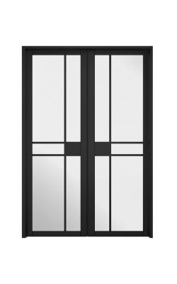 LPD Room Divider Black Greenwich W4 Internal Glazed DoorsetLPD Room Divider Black Greenwich W4 Internal Glazed Doorset