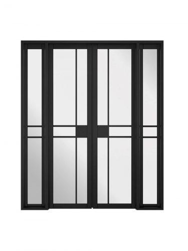 LPD Room Divider Black Greenwich W6 Internal Glazed Doorset