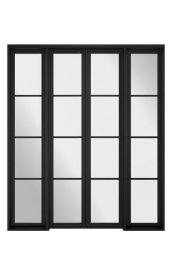LPD Room Divider Black Soho W8 Internal Glazed DoorsetLPD Room Divider Black Soho W8 Internal Glazed Doorset