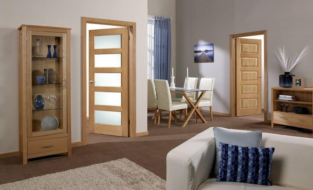 Contemporary Five Panel  Internal Glazed Door and Fire Door variant