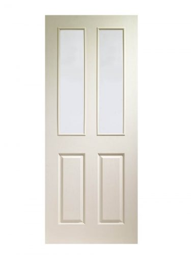 XL Joinery Victorian White Moulded Clear Internal Glazed Door