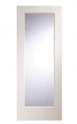 XL Joinery Cesena Pre-Finished White Internal Door with Clear Bevelled GlassXL Joinery Cesena Pre-Finished White Internal Door with Clear Bevelled Glass