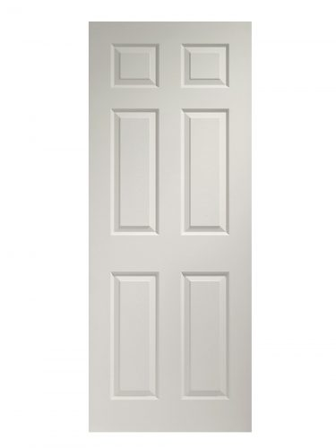 XL Joinery Colonist 6 Panel Pre-Finished White Moulded Internal Door