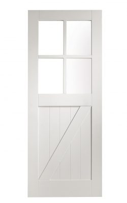 XL Joinery White Primed Cottage Clear Internal Glazed DoorXL Joinery White Primed Cottage Clear Internal Glazed Door