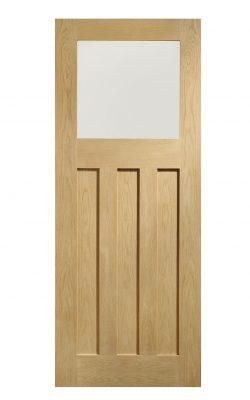 XL Joinery DX Pre-Finished Internal Oak Door with Obscure GlassXL Joinery DX Pre-Finished Internal Oak Door with Obscure Glass