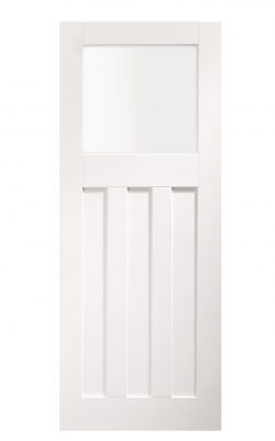 XL Joinery DX 1930's White Primed Frosted Internal Glazed DoorXL Joinery DX 1930's White Primed Frosted Internal Glazed Door