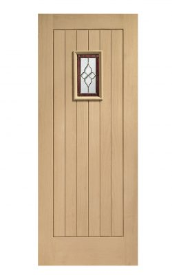 XL Joinery Chancery Onyx Triple Glazed Oak (M&T) Brass Caming Glazed External doorXL Joinery Chancery Onyx Triple Glazed Oak (M&T) Brass Caming Glazed External door