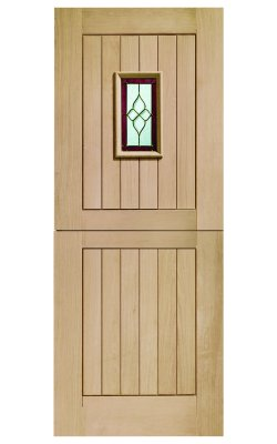 XL Joinery Chancery Stable Triple Glazed Oak (M&T) Brass Caming Glazed External doorXL Joinery Chancery Stable Triple Glazed Oak (M&T) Brass Caming Glazed External door