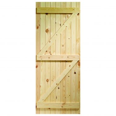 XL Joinery Ledged & Braced Arched Top External Pine Gate