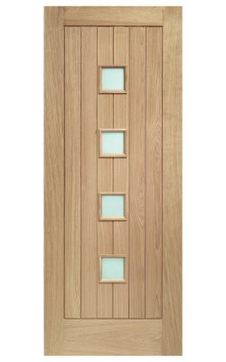 XL Joinery Siena Double Glazed Oak (M&T) Frosted Glazed External DoorXL Joinery Siena Double Glazed Oak (M&T) Frosted Glazed External Door