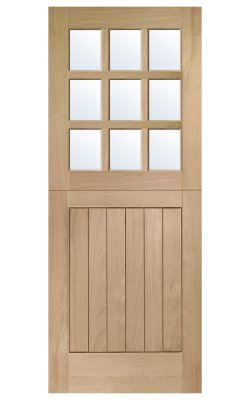 XL Joinery Stable 9 Light Double Glazed Oak (M&T) Clear Glazed External DoorXL Joinery Stable 9 Light Double Glazed Oak (M&T) Clear Glazed External Door