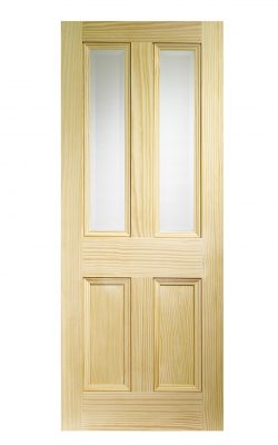 XL Joinery Edwardian 4 Panel Vertical Grain Clear Pine Bevelled Glass Clear Internal Glazed DoorXL Joinery Edwardian 4 Panel Vertical Grain Clear Pine Bevelled Glass Clear Internal Glazed Door