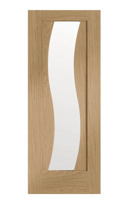 XL Joinery Florence Pre-finished Oak Door with Clear GlassXL Joinery Florence Pre-finished Oak Door with Clear Glass