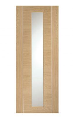 XL Joinery Forli Pre-Finished Internal Oak Door with Clear GlassXL Joinery Forli Pre-Finished Internal Oak Door with Clear Glass