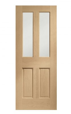 XL Joinery Malton Oak Clear Glazed FD30 Fire DoorXL Joinery Malton Oak Clear Glazed FD30 Fire Door