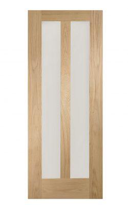 XL Joinery Novara Internal Oak Door with Clear GlassXL Joinery Novara Internal Oak Door with Clear Glass