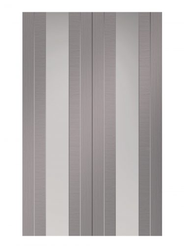 XL Joinery Forli Pre-Finished Light Grey Internal Clear Glazed Door Pair