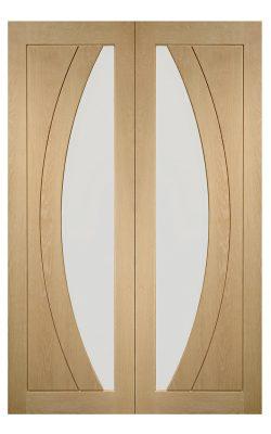 XL Joinery Salerno Un-Finished Oak Internal Clear Glazed Door PairXL Joinery Salerno Un-Finished Oak Internal Clear Glazed Door Pair